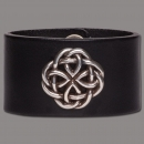 Leather Bracelet Knot Round black