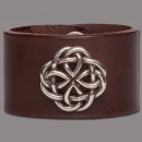 Leather Bracelet Knot Round brown