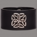 Leather Bracelet Knot Square black