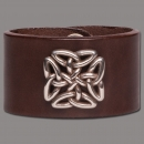 Leather Bracelet Knot Square brown