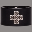 Leather Bracelet Cross Knot black